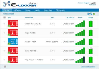 """Professionel datalogning – E-logger Online """"Professionel"""""""